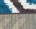 Rug Connection Aztec Honeycomb 330 x 240cm Rug - Blue 5