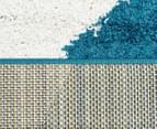 Metro Waves 230x160cm Rug - Peacock Blue/White/Citrus 5