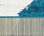 Metro Waves 330x240cm Rug - Peacock Blue/White/Citrus 5