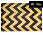 Rug Connection Metro Chevron 290 x 200cm Rug - Yellow 1