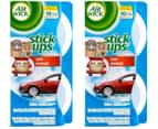 2 x Air Wick Stick Ups Car Air Fresheners Crisp Breeze 2pk 1