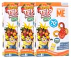 3 x Despicable Me Fruit Tails Duoz 160g 8pk 1