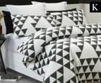 Belmondo Equilateral KB Quilt Cover Set - Black/White 1