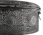 Large Moroccan-Themed 22cm Round Box - Charcoal 4