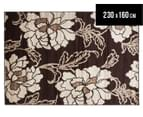 Kyota Deco Flower 230 x 160cm Rug - Brown 1