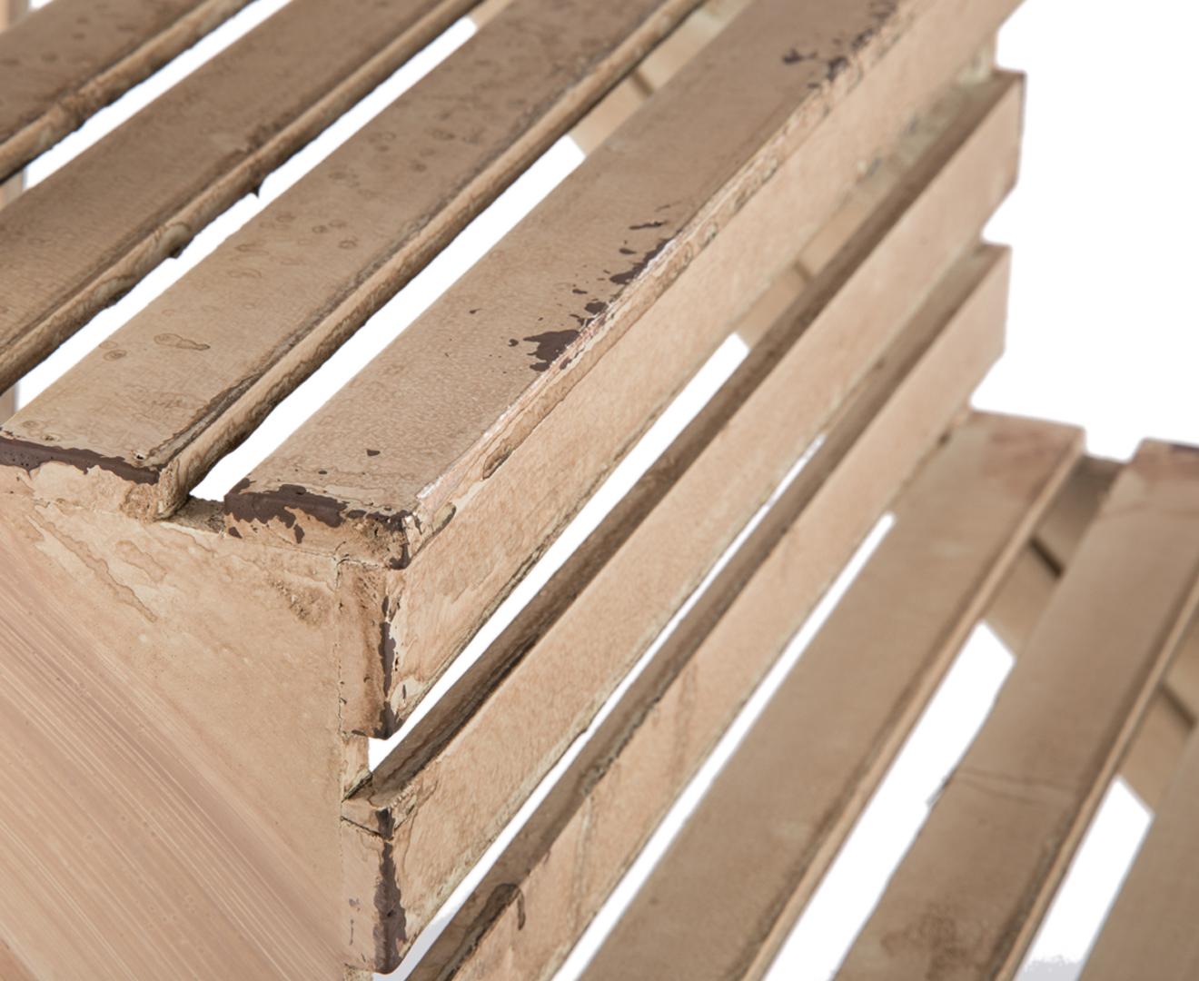 4-Tier Slatted Shelf Ladder - Antique Cream Finish   Great ...