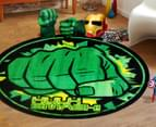Hulk Smash 100cm Kids' Printed Rug - Green 2