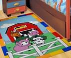 Farmyard Animals 150cm x 100cm Kids' Printed Rug - Multi 2