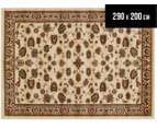 Traditional Floral Border 290x200cm Rug - Ivory 1