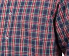Nautica Men's Plaid Shirt - Buoy Red 5