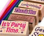 Melissa & Doug Wooden Favorite Phrases Stamp Set 5