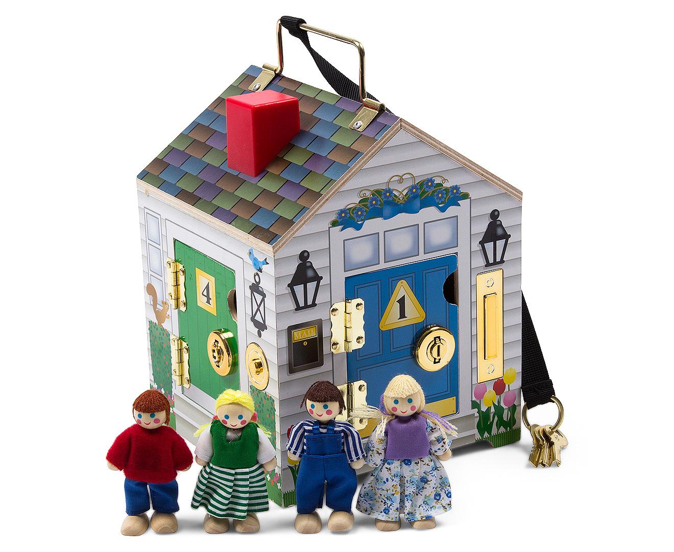 Melissa Doug Wooden Doorbell House