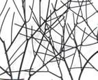 Metallic 76cm x 51cm Winter Trees Wall Art - Black 3