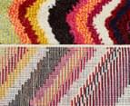 Antares Coloured 300x80cm Zig Zag Runner Rug - Multi 6