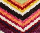 Antares Coloured 400x80cm Zig Zag Runner Rug - Multi 5