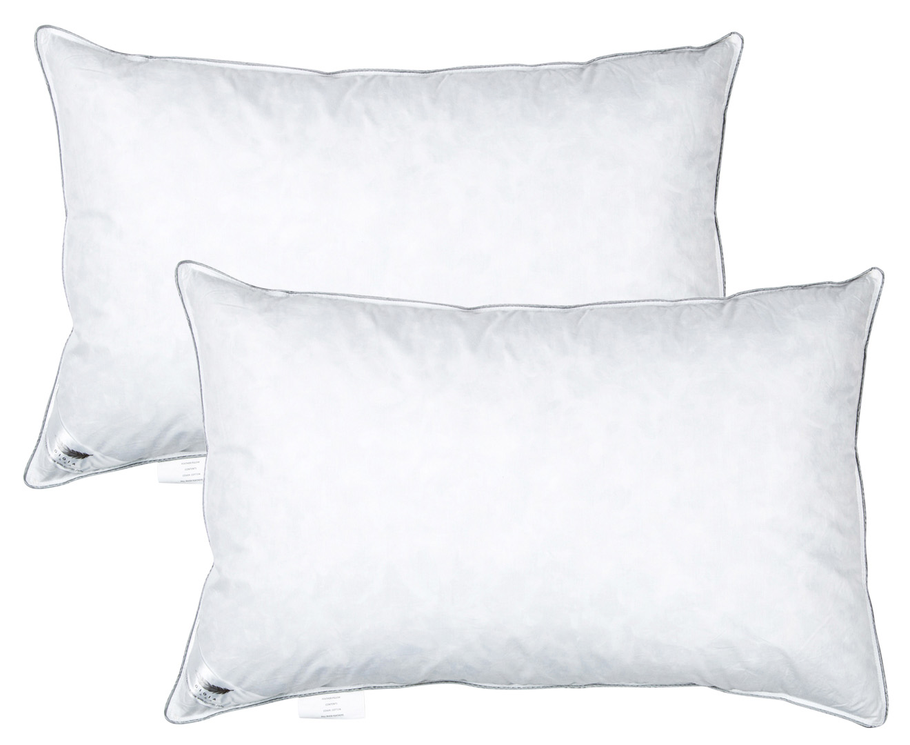 Gioia Casa Duck Feather Pillow 1kg Fill Twin Pack