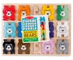 Melissa & Doug Stacking Wooden Chunky Puzzle Rainbow Bears 1