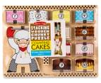 Melissa & Doug Stacking Wooden Chunky Puzzle Counting Cakes 6