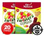 2 x Go Natural Fruit Twisters Strawberry & Apple 10pk 1
