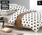 Gioia Casa SB Sky Reversible Quilt Cover Set - White/Black 1