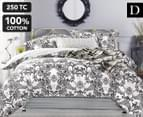 Gioia Casa DB Grace Reversible Quilt Cover Set - Black/White 1