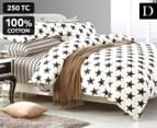 Gioia Casa DB Sky Reversible Quilt Cover Set - White/Black 1