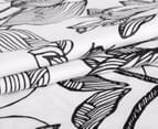 Gioia Casa QB Grace Reversible Quilt Cover Set - Black/White 3