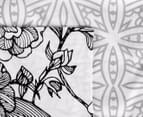 Gioia Casa QB Grace Reversible Quilt Cover Set - Black/White 5