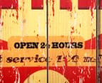 Wooden 60 x 40cm Wall Plaque - Last Chance Gas 4
