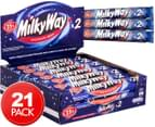 21 x Milky Way Chocolate Whip 2pk 50g 1