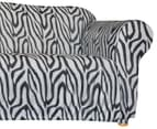 Sure Fit Stretch 3-Seater Sofa Cover - Zebra 3