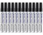 Penline Aluminium Chisel Point Permanent Marker 12-Pack - Black 1