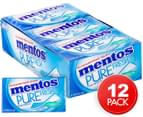 12 x Mentos Pure Fresh Mint Gum 25g 1
