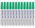 Penline Aluminium Bullet Point Whiteboard Marker 12-Pack - Green 1