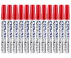 Penline Aluminium Bullet Point Whiteboard Marker 12-Pack - Red 1
