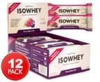 12 x IsoWhey High Protein Bars - Berry Yoghurt 62g 1