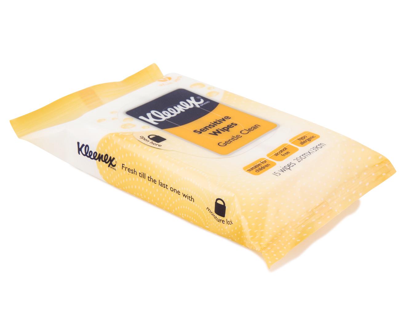 8 X Kleenex Sensitive Wet Wipes 15pk Great Daily Deals