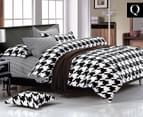 Ardor Roland Reversible QB Quilt Cover Set - Black 1