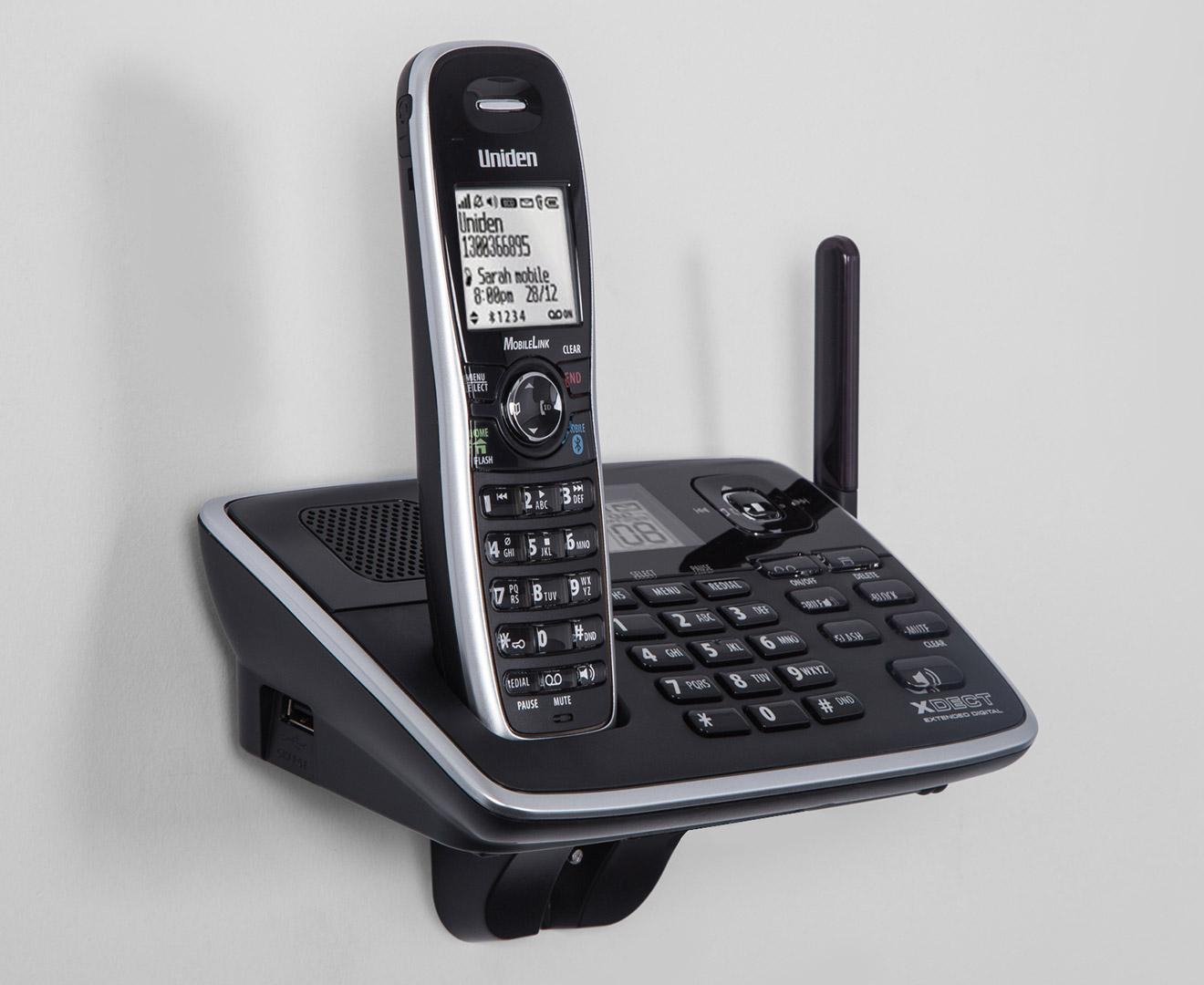 Uniden XDECT 8155+1 Bluetooth Cordless Phone System - Black | Catch.com.au