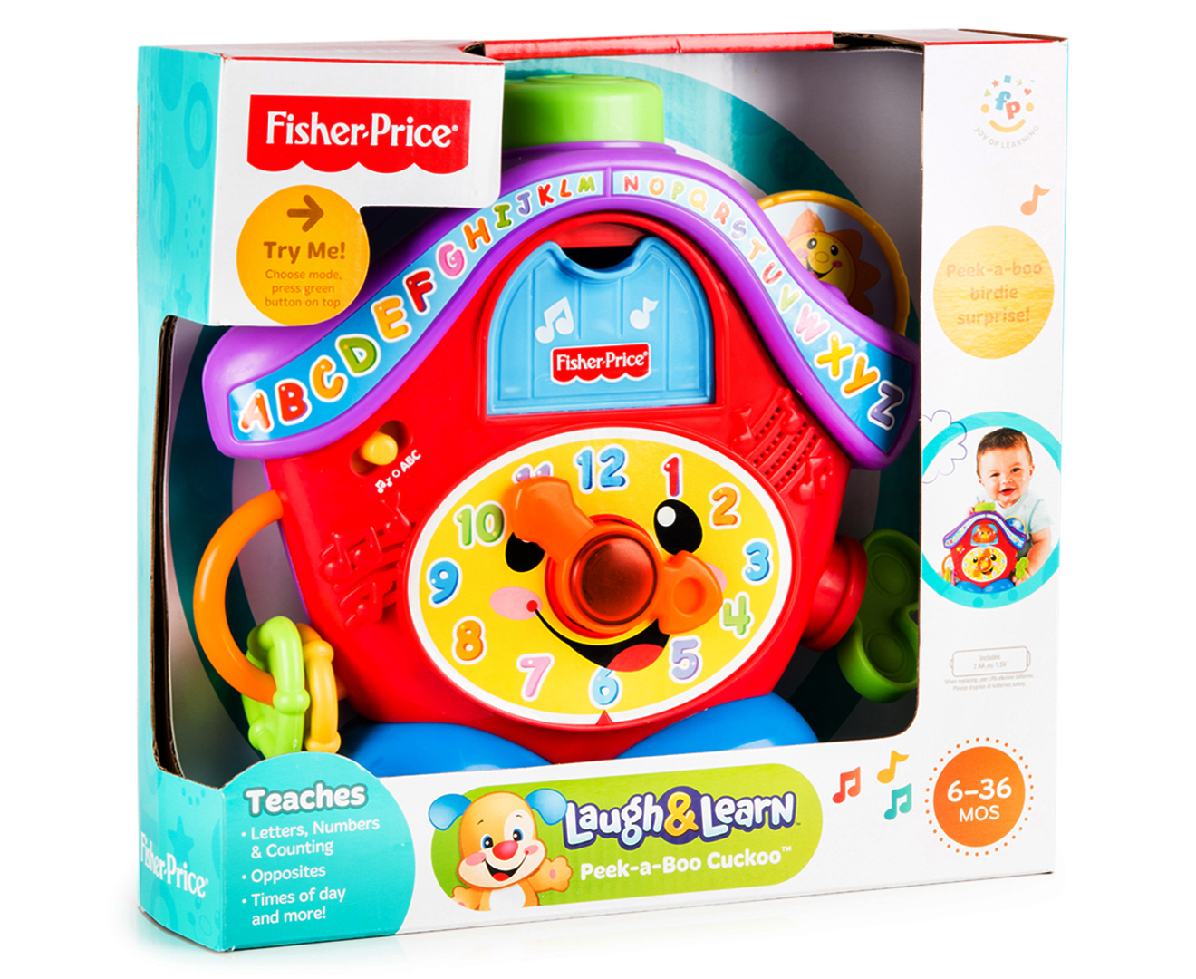 Fisher Price Laugh Learn Peek A Boo Cuckoo Clock Infant Learning Toaster