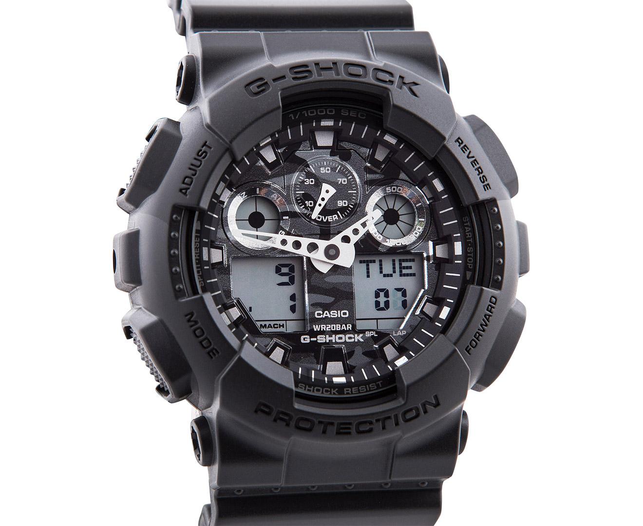 Casio G-Shock Men s 50mm Camo Dial Series GA100CF-8A Watch - Grey ... 80fac699c303