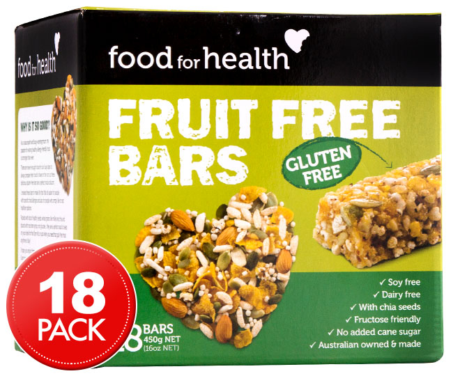 Food for health fruit free bars 18pk great daily deals for Food bar consult