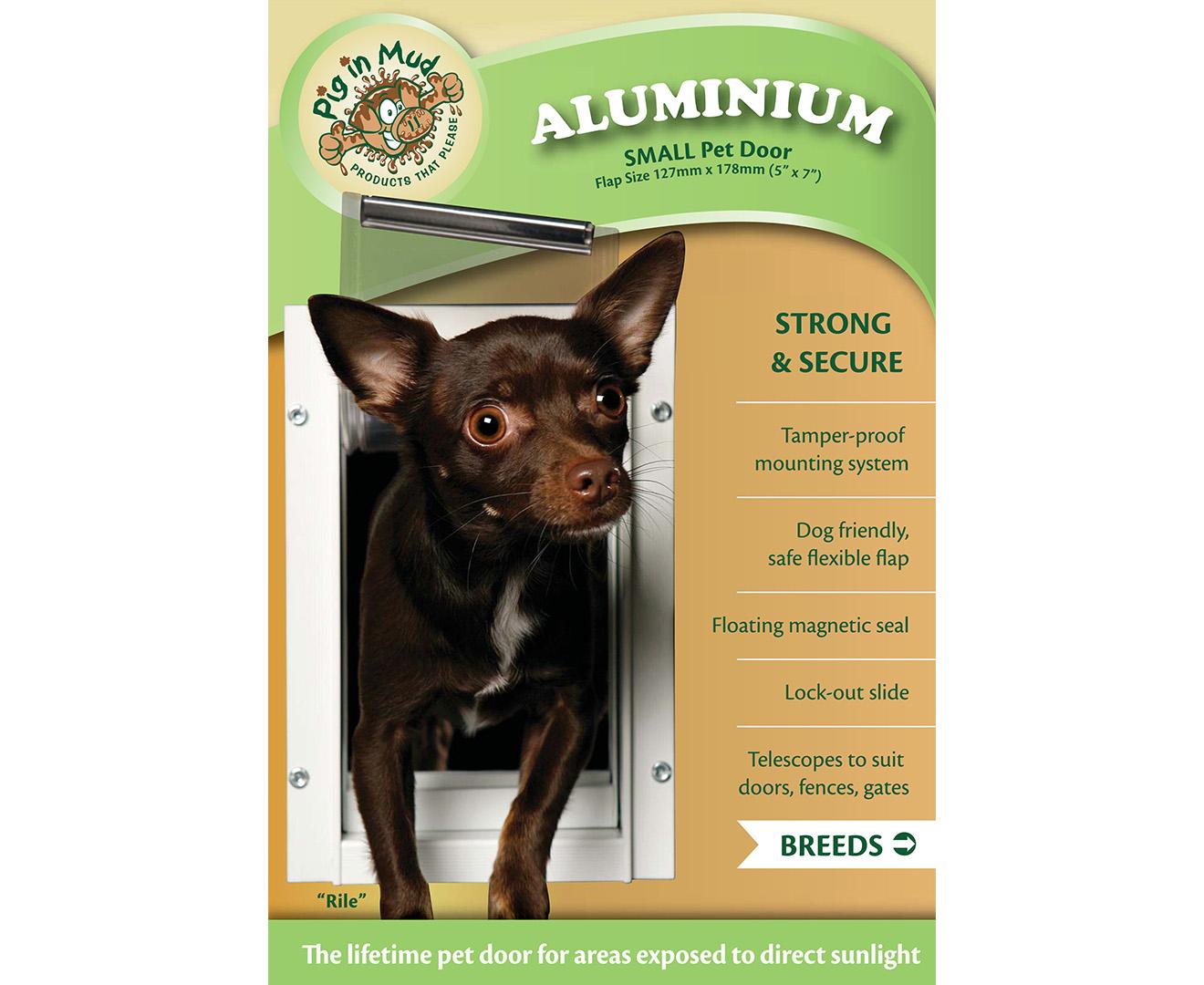 Pig In Mud Aluminium Small Pet Door White Groceryrun