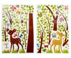 Kids' 165x70cm Wall Decal - Fawns, Tree & Butterflies 2