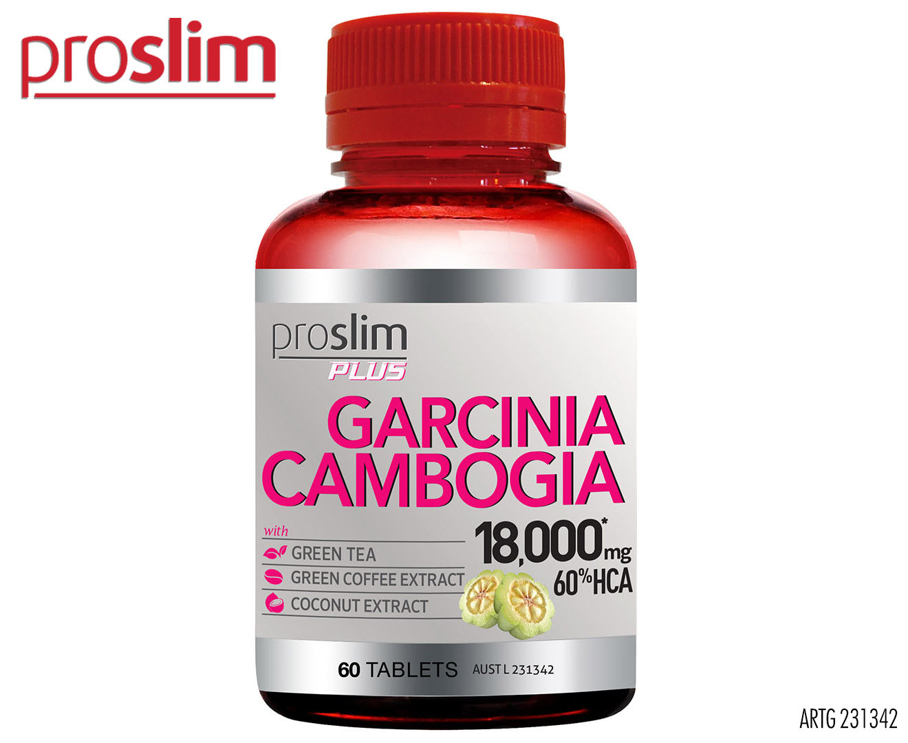 Proslim Plus Garcinia Cambogia 18000mg 60% HCA 60 Tabs | Great daily deals  at Australia's favourite superstore | Catch.com.au