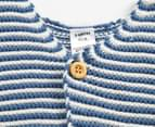 Bonds Baby Newbies Knit Vest - Denim Wash/White Stripe 2