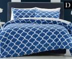Belmondo Home Arabesque DB Quilt Cover Set - Navy 1