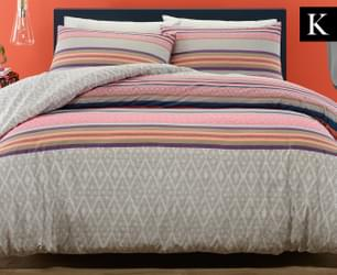 Belmondo Home Foulard KB Quilt Cover Set - Fuchsia