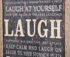 "Framed 60x40cm 3D ""Laugh"" Wall Hanging 4"