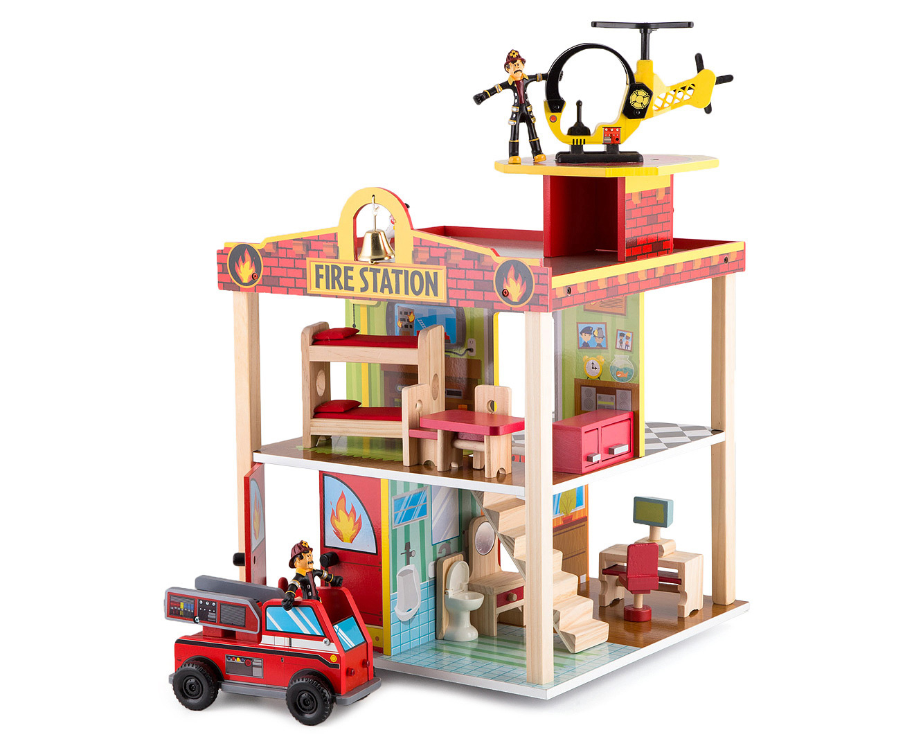 Kidkraft Fire Station Play Set Catchcomau